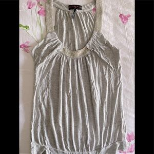 Guess grey beaded halter top size small